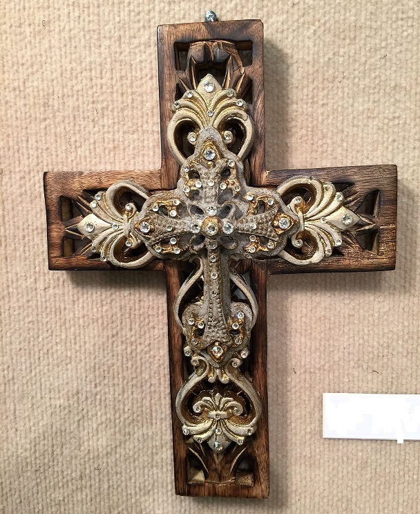 Carved Wooden Cross 62